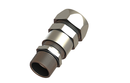 Straight fittings with cable hose male