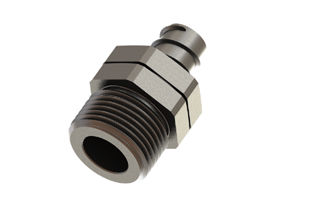 Swiveling straight fittings for flexible conduits